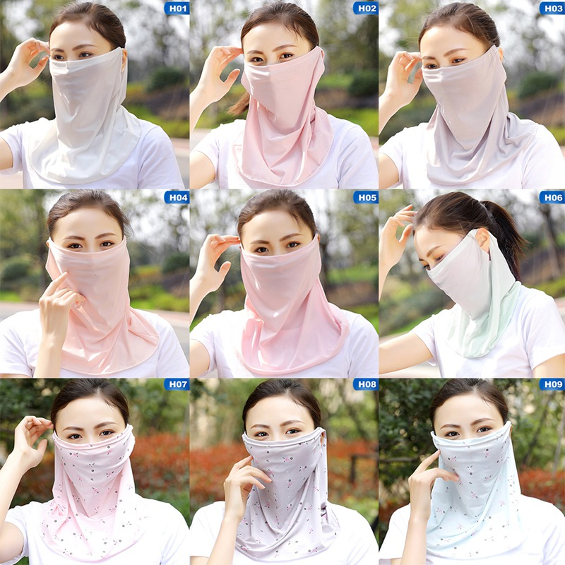 Cover Face-Shawl Sun-Mask Sun-Protection Riding Sunshade Breathable Summer Female
