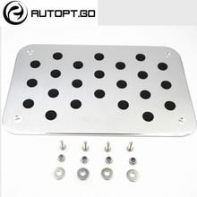Universal de Alumínio Antiderrapante Pé Tapetes de Carpete Piso Almofadas Pedal Com Parafusos Definido Para Todos Os Volkswagen VW Rline Series Pedal