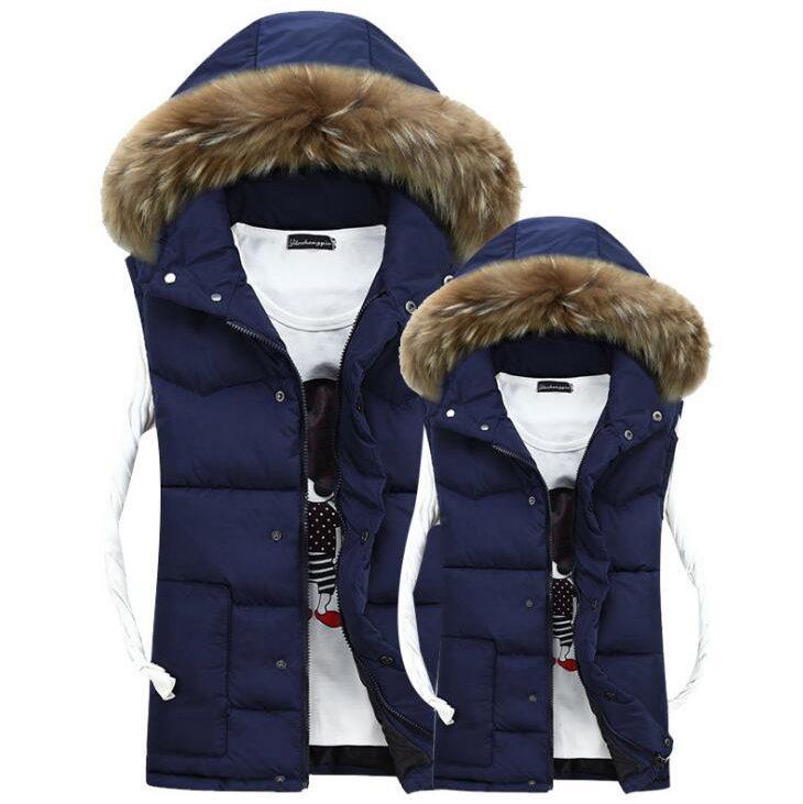 1018 2016 Winter Down vest Mens vest Slim Mens sleeveless jacket Gilet homme Waistcoat Mens
