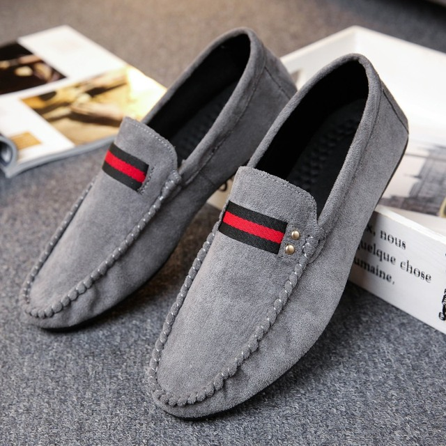 a7cc9ef2622 Moccasins Gommino Drivers With Sylvie Web Buckle Loafers Slippers Men Flats  Casual Genuine Leather Moosehide Weekender Shoes
