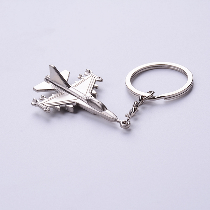 Metal F16 Fighter Plane Keychain Cool Battleplane Keyring For Military Fan 20pcs/Lot