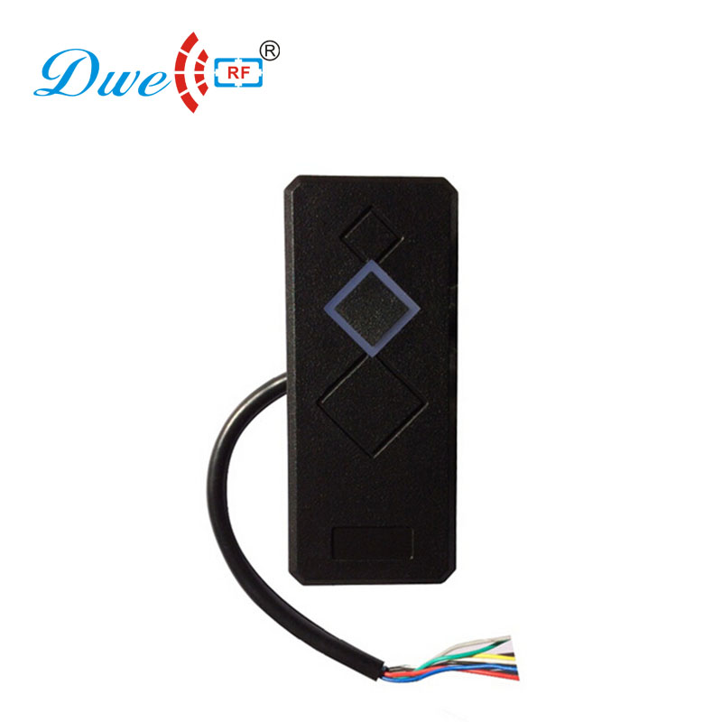 DWE CC RF access control card reader low frequency RS232 door access rfid card reader with black color high quality proximity rfid card reader without keypad rs232 access control rfid reader door access card reader customized rs232