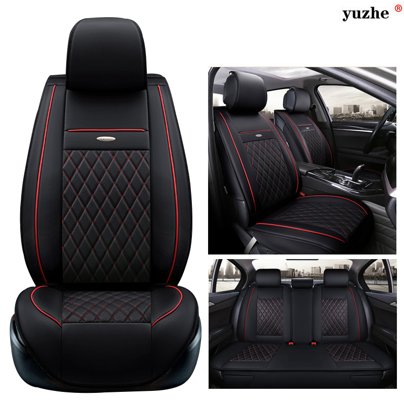 Yuzhe leather car seat cover For Hyundai IX35 IX25 Sonata Santafe Tucson ELANTRA Accent Verna I30 accessories styling cushion factory outlet high quality car styling chrome tank cover for 2015 hyundai tucson chrome accessories