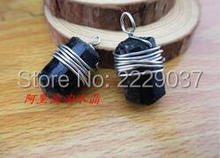 Free shipping Natural black tourmaline nunatak pendant black tourmaline ore energy stone black tourmaline men fashion pendant