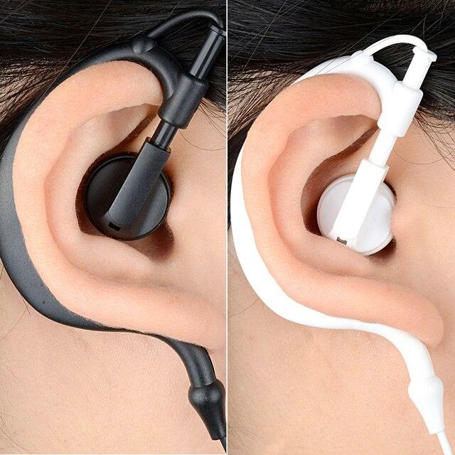 Rukz 002 esporte estéreo gancho fones de ouvido para motorista do telefone móvel baixo correndo com microfone dj fone alta fidelidade cavaleiro