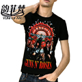 Guns N Roses Print Summer T shirt Men Women 2016 New Fashion Rock Singers Cotton T-shirt Special Gift Boyfriend Plus Size M-XXL