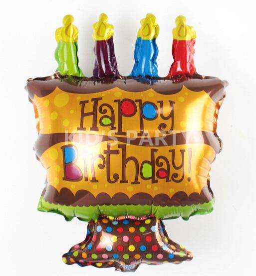 Peachy 5Pcs Small Happy Birthday Cake Kids Foil Balloons Cake Balloon Funny Birthday Cards Online Fluifree Goldxyz