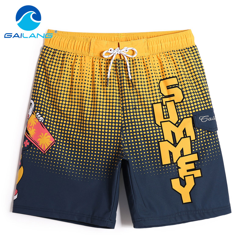 Gailang Brand Men Beach   Shorts     Board   Boxer Trunks Men's Swimwear Swimsuits Active Bottoms Quick Drying Man Plus Size New