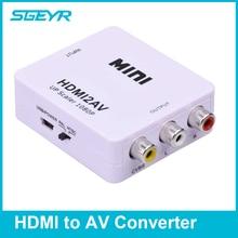 STEYR MINI HDMI2AV Adapter 1080P HDMI to AV RCA 3RCA CVBS Composite Video Audio Converter Supporting PAL/NTSC