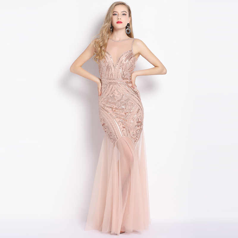 Pailletten Kralen Avondjurken Mermaid Lange Formele Prom Party Dress 2020 Nieuwe Stijl Vestiods De Noiva