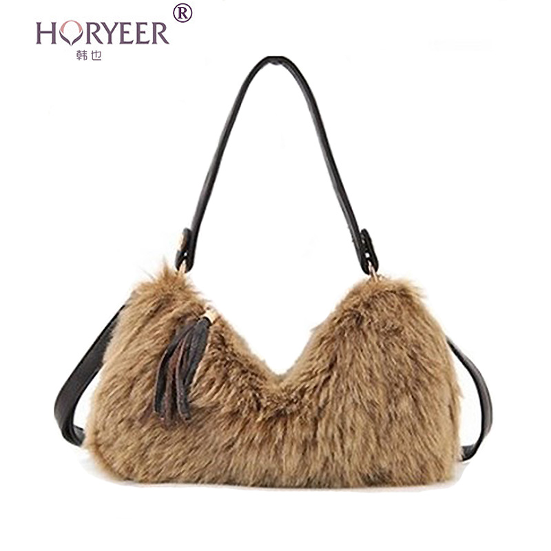 horyeer sac a main femme de marque luxe cuir 2016 faux fur zipper bag women handbags famous. Black Bedroom Furniture Sets. Home Design Ideas