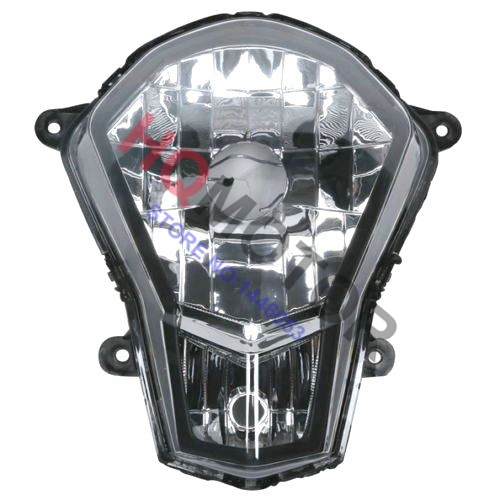 New Clear Headlight Lamp Assembly Head Light For KTM 200 DUKE 2012-2013 motorcycle front rider seat leather cover for ktm 125 200 390 duke