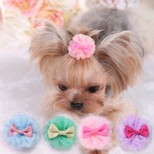 New Dog Cat Puppy Hair Bows Ribbon Wholesale Hairpin Flower Pets Accessories Gift Supplies