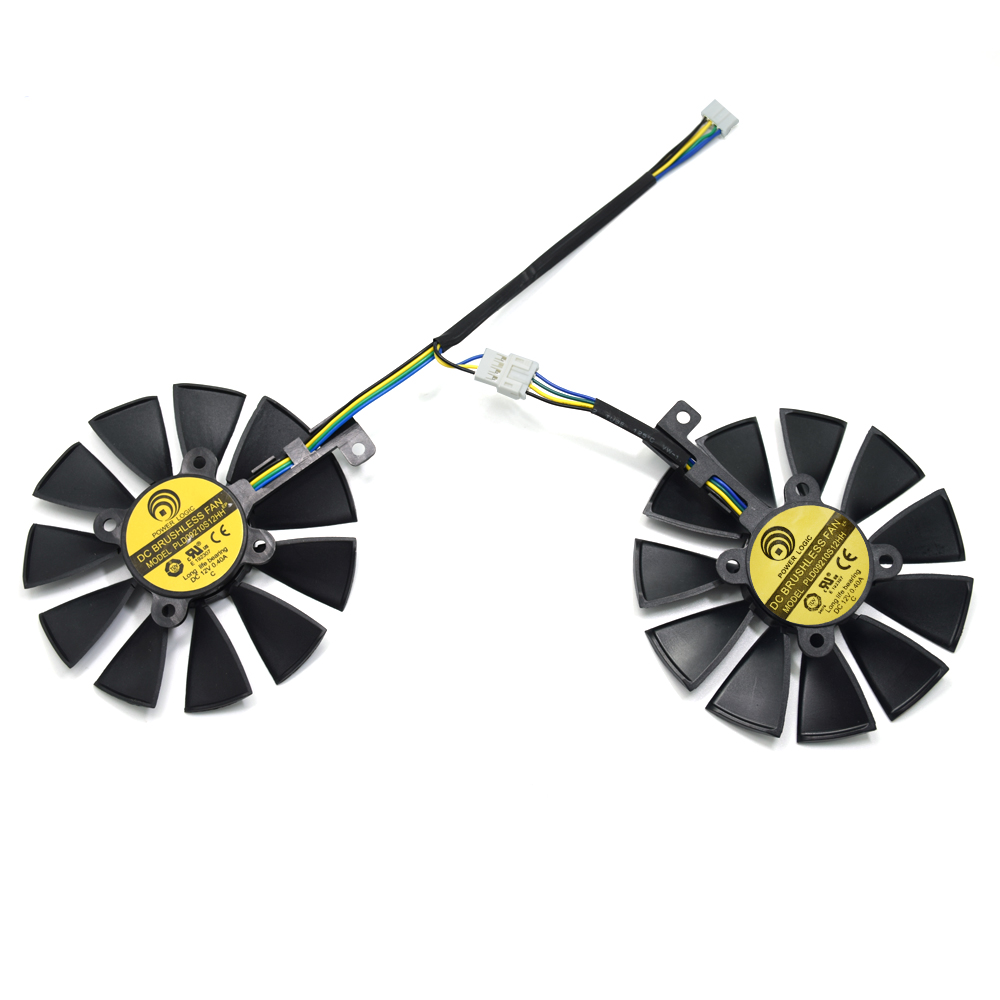 New 88MM PLD09210S12HH DC 12V 4Pin Cooler Fan Replacement For ASUS ROG STRIX GTX1060 1070 Ti RX 470 570 580 Graphics Card Fans|Fans & Cooling| |  - title=
