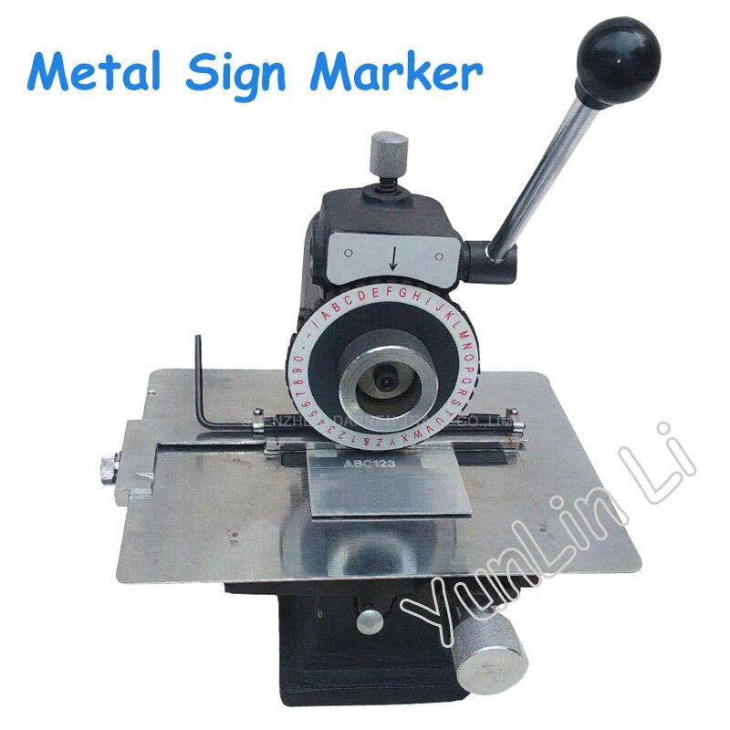 Из металла маркировочная машина руководство плоттер полуавтоматическая Давление тарелку тиснения разбив карты инструмент