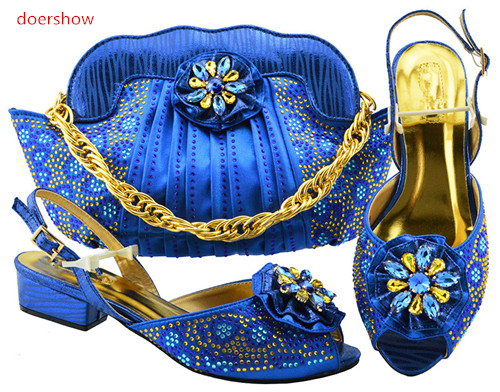 doershow Shoes and Bag To Match Italian Matching Shoe and Bag Set African Wedding Shoes and Bag To Match for Party shoe PFG1-24 shoe and bag to match italian african wedding shoe and bag sets women shoe and bag to match for parties doershow bch1 16
