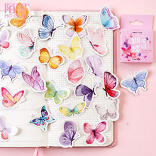 45pcs Butterfly Garden Stickers Kawaii Diary Handmade Adhesive Paper Flake Japan Sticker Scrapbooking Stationery Travel