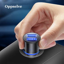 Oppselve Mini USB Car Charger For iPhone Samsung Tablet 3.1A Fast Car-Charger Dual Phone Adapter in