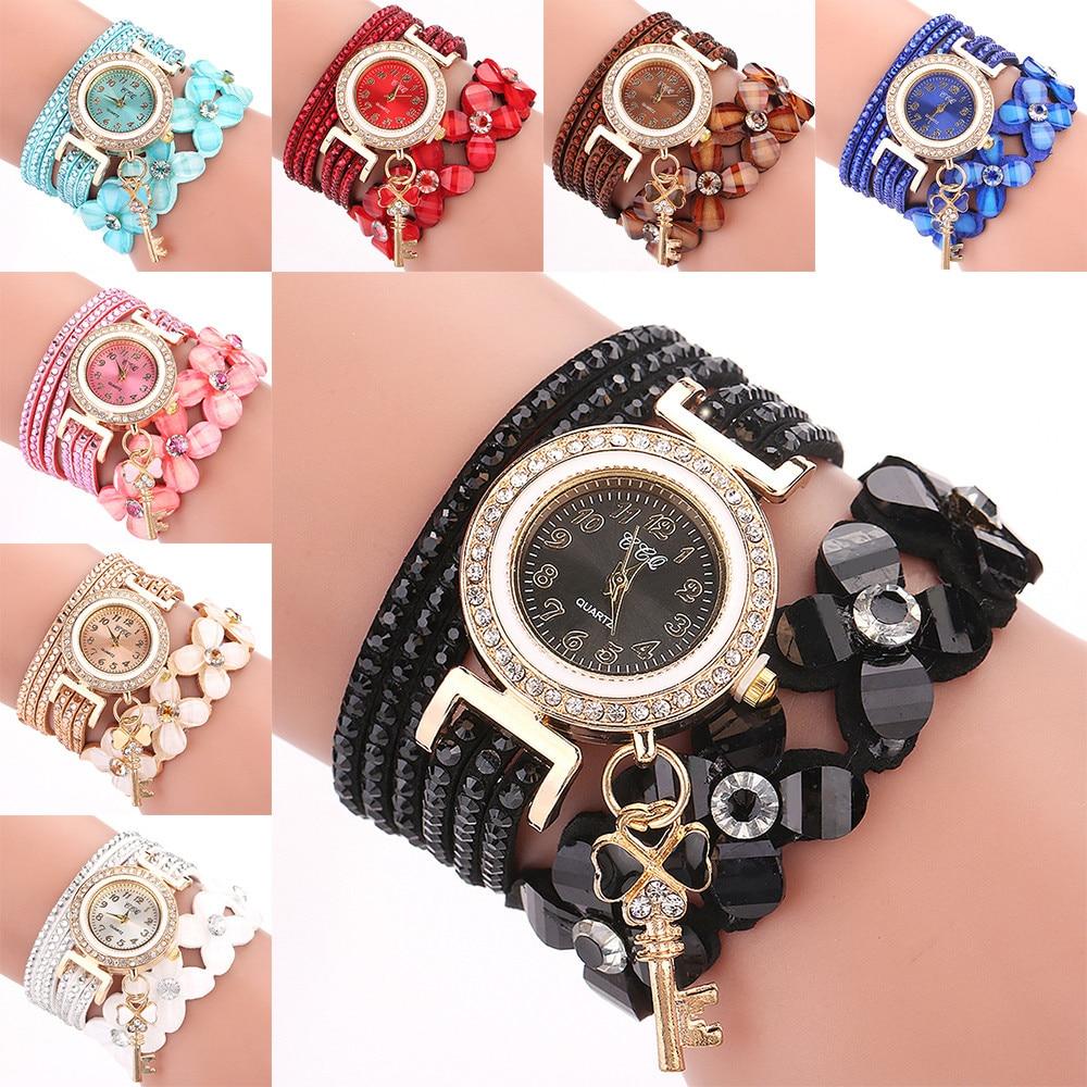 Us 2 25 Off Flowers Geneva Watches Fashionable Stylish Quartz Bracelet Las Diamond Watch Relogios Feminino Dropship L1123 In Women S