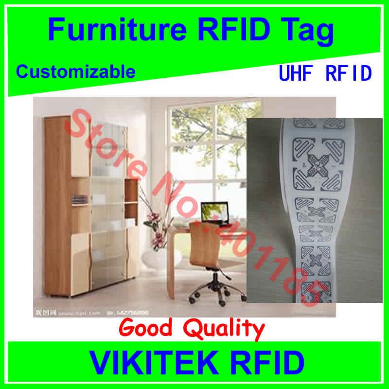 все цены на furniture management 3D UHF RFID tag customizable adhesive 860-960MHZ Monza4 EPC C1G2 ISO18000-6C can be used to RFID tag labe онлайн