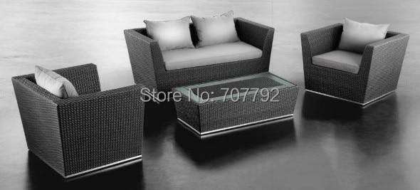 2017 Nueva Llegada Salón Poli muebles de jardín de Ratán Conjunto de ...