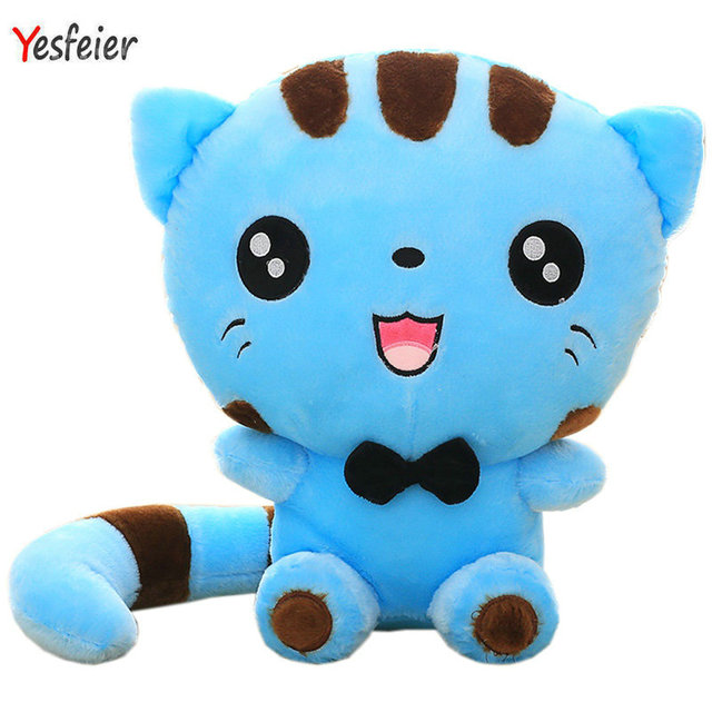 Yesfeier 45cm Cute New Style Cat Plush Toys Stuffed Animals Colorful