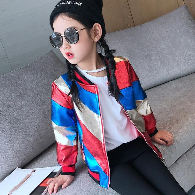 Veste Filles Mode Enfants Vêtements Cuir Faux Bébé Vestes wXzd4Xrq