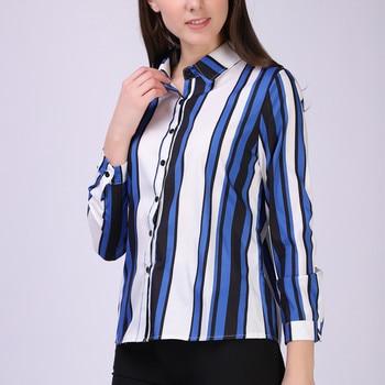 49439f1b6b Mujer Tops y Blusas blusa Chiffon camisa a rayas para mujer Blusas  Femininas Elegante de moda Coreana de la ropa más ropa de tamaño XXL