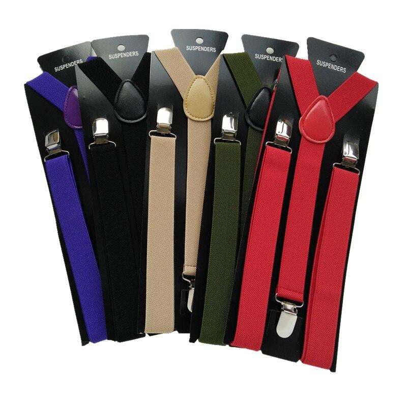 10pcs/lot  Wholesale Big Size XL Unisex Adult Suspender Men Braces Elastic Y- Back Suspenders Match Men Women Shirt BD001-XL