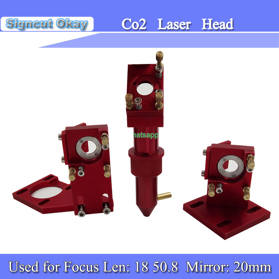 CO2 Laser Head Set Type Mirror And Focus Lens Integrative Mount Holder For Laser Engraving Cutting Machine
