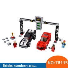 DECOOL 78115 Speed Champions Camaro Drag Race Building Block Set Kids Bricks DIY Toys for Children Compatible with 75874 Toy