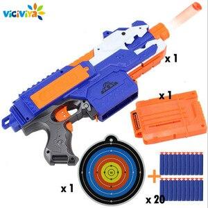 Image 1 - Jouet pistolet électrique pour garçons, balle souple, costume pour Nerf fléchettes, Blaster, fusil de Sniper, pour tirer en extérieur, modèle 2020