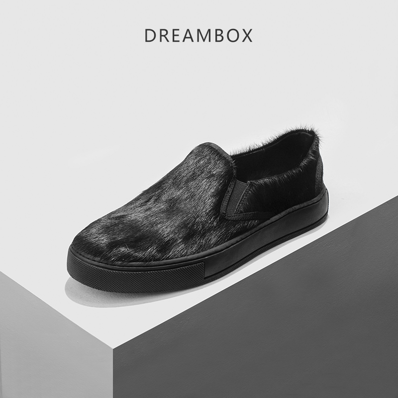 dreambox Europe and the United States men's wear thick soled shoes horsehair breathable leather shoes dreambox summer leisure trends in europe and america mesh breathable shoes set foot thick soled shoes