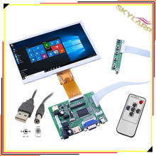 Big discount 7 inch HD 1024*600 7300101462 E242868 LCD Screen Display With Remote Driver Control Board 2AV HDMI VGA for Raspberry Pi