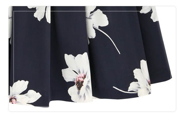6057c0fda5 Pleated Midi Skirt High Waist Floral Skirts Womens 2015 Summer Stlye Blue  Skirts For Plus Size
