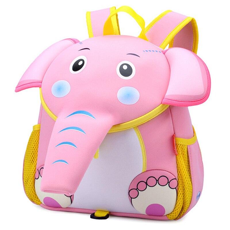 2019 Cute 3D Elephant School Backpacks For Kids Boys Girls Designer Schoolbag Waterproof Children School Bags Mochila Infantil
