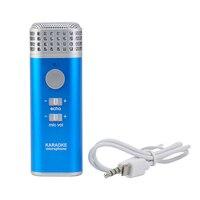 V3 Mini Portatile Palmare Microfono 3.5mm Stereo Recording Karaoke A Casa KTV Mic Microfono Per iOS Android Phone Popolare Personale