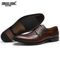 Felix Chu Brand Brown Dress Men Simple Lightweight Men Classic Derby Shoes Male Business Dress Men Shoes Leather / Free Shipping