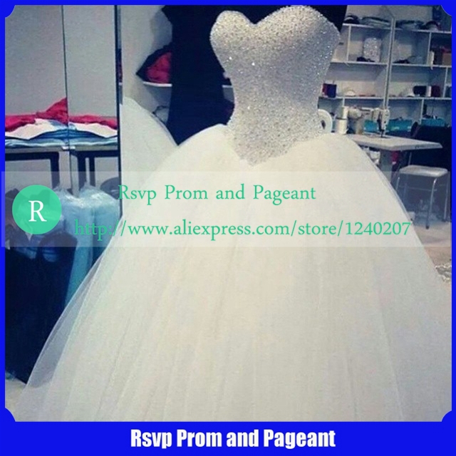 Online Get Cheap Sweetheart Neckline Wedding Dresses with Bling ...