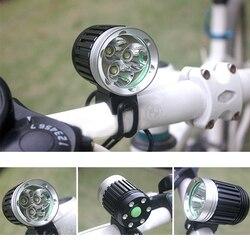 Triple Wick T6 Bike światło rowerowe led o wysokiej jasności podłącz interfejs USB tarkawodoodpornal do kierownicy rowerowej