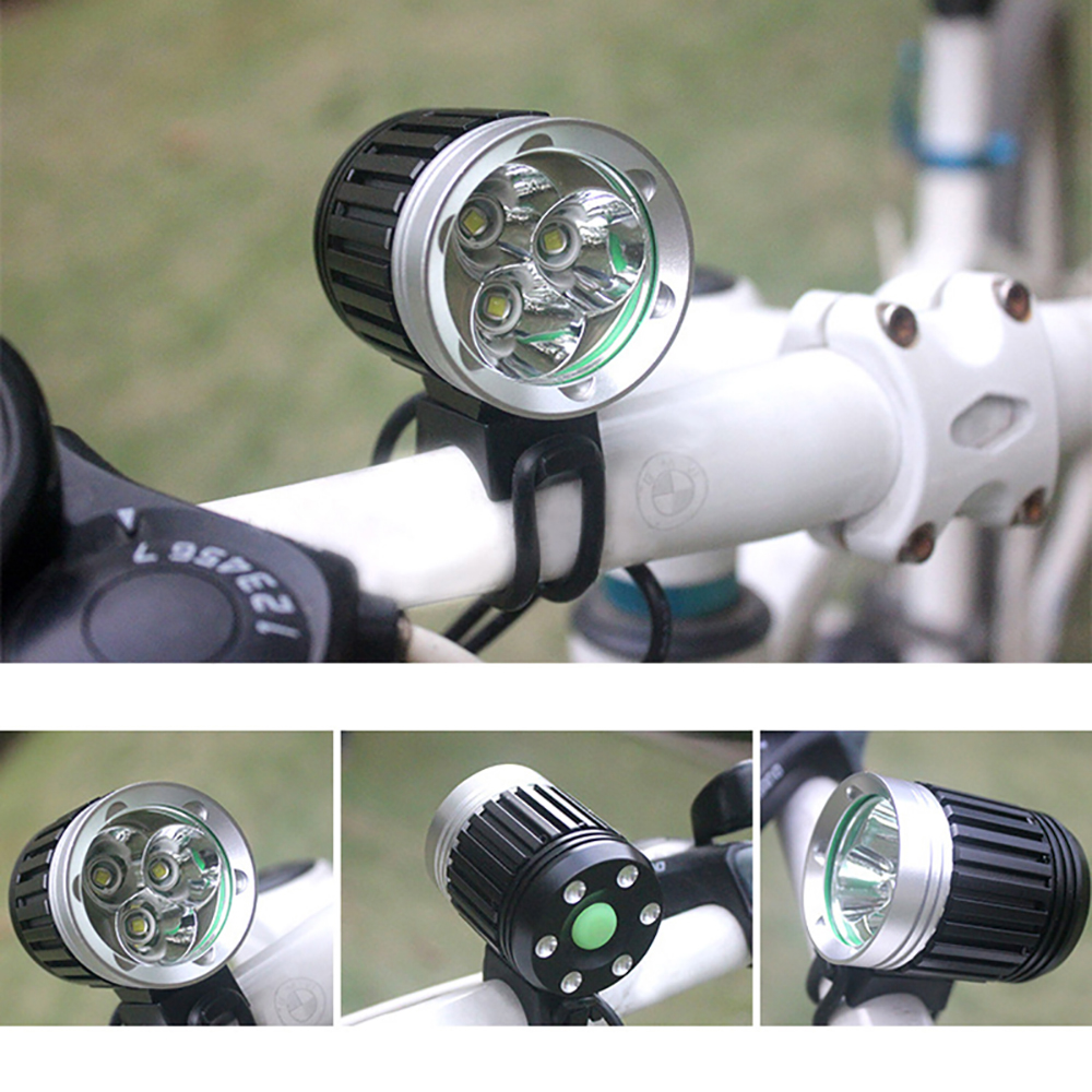 Triple Wick T6 Bike Cycling LED Light High Brightness Connect USB Interface Waterproof <font><b>Flashlight</b></font> <font><b>For</b></font> <font><b>Bicycle</b></font> HandLebar image