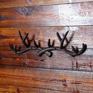 Image 3 - OUNONA Cast Iron Vintage Deer Antler Wall Hooks Home Decorative Hook Rack Wall mounted Key Hanger Wall Hanger for Key Coat Towel