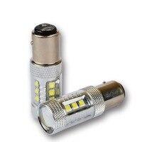 2 Sztuk 80 W 1157 BAY15D LED Światła Samochodów Doprowadziły Światła, CANBUS technologii, Nie Błąd, Nie Polaryzacji. uniwersalne kierunkowskazy, światła Postojowe
