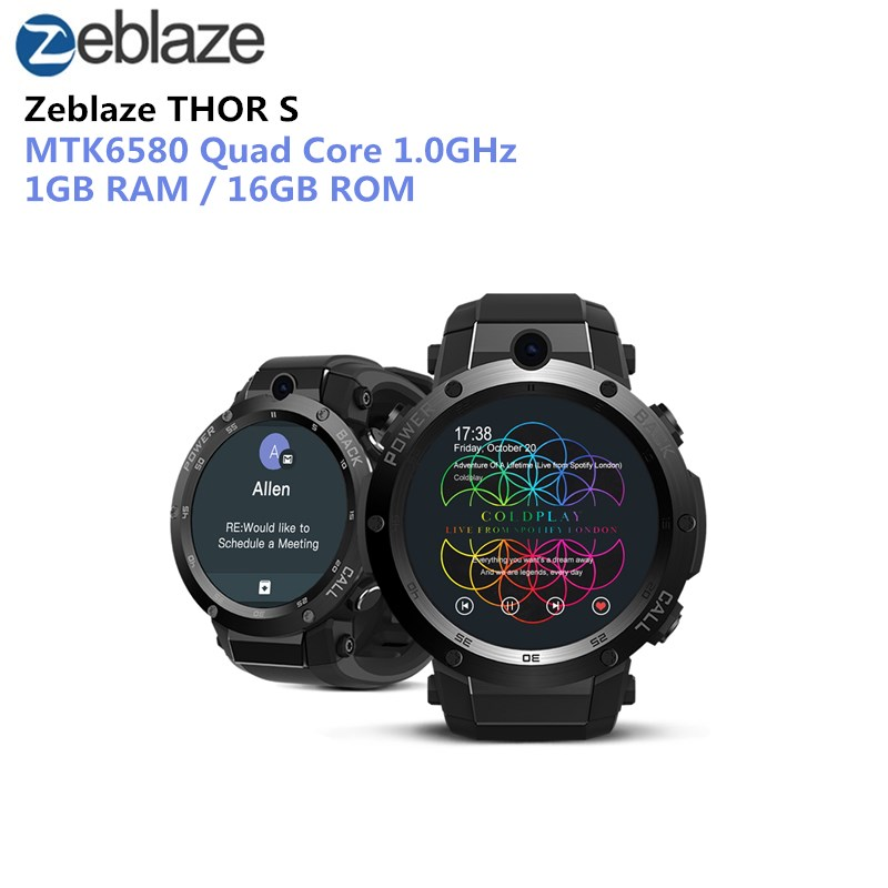 Zeblaze THOR S 3G Smartwatch Phone Android 5.1 1.39 inch MTK6580 1.0GHz Quad Core 1GB 16GB 5.0MP Camera Bluetooth Smartwatch