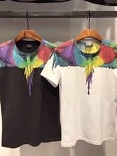 2019 Top Version 1:1 Marcelo Burlon T Shirt Men Women Classical Wind Print Tees Justin Bieber Streetwear Marcelo Burlon Tshirt