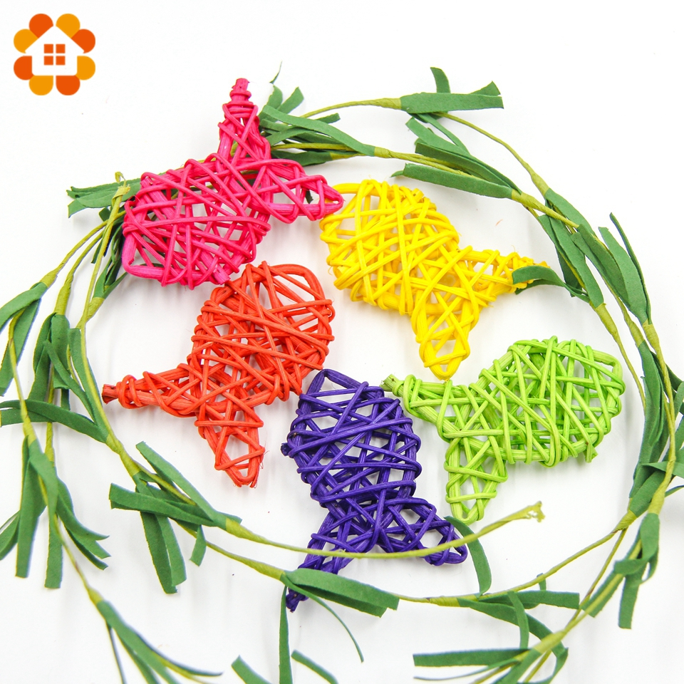 10PCS Fish Shape Rattan Ball 9 Colors Sepak Takraw For Christmas Birthday Party & Home Wedding Party Decoration Supplies