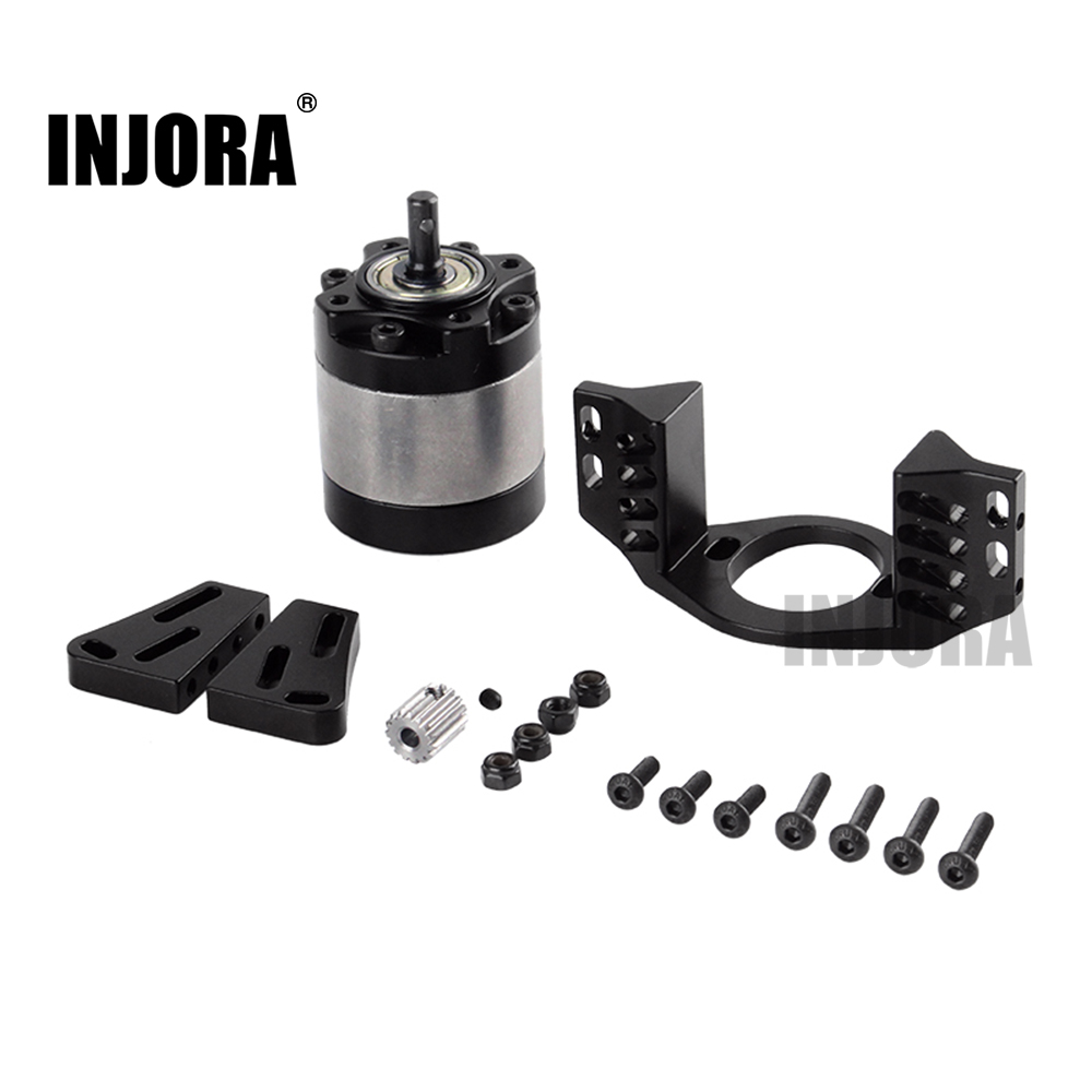INJORA Metal 1:5 Gear Ratio D90 Gearbox With Mount Transmission Case For 1/10 RC Crawler Car SCX10 D90