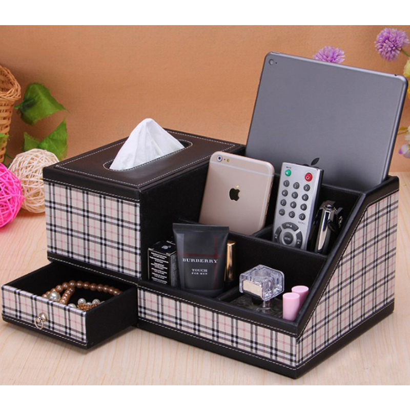 Creative Large Capacity Leather File Holder Case Pen Paper Cases Office Stationery Girl Gift Good Ipad Holders Box