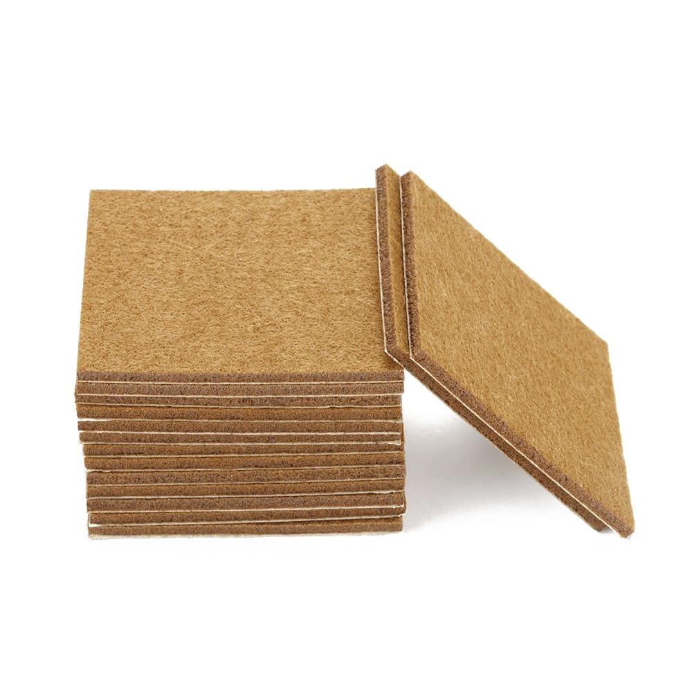 CSS 20pcs Furniture Pads Felt Sheets Self Adhesive Wood Floor Protectors 7cmx7cm ...