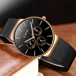 Image 4 - 2019 klassische Frauen Rose Gold Top Marke Luxus Laides Kleid Business Mode Lässig Wasserdichte Uhren Quarz Kalender Armbanduhr